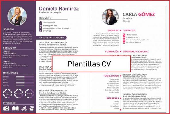 plantillas curriculum